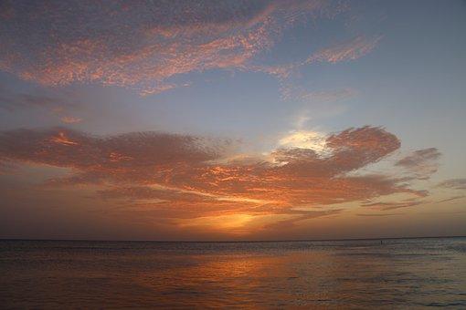 Sky, Sea, Sun, Water, Relax, Travel, Beach, Sunset