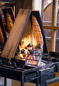 Fire, Smoking, Fish, Trout, Salmon, Smoked Salmon, Eat
