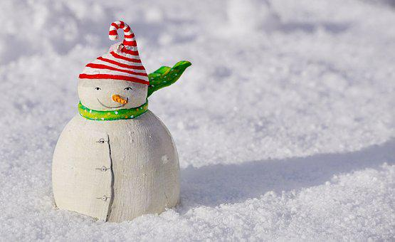 Snow Man, Snow, Winter, Cold, Wintry, Greeting Card