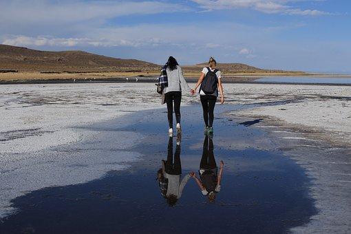 Salt Flats, Bolivia, Salt Lake, Sky, South America