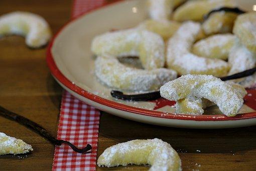 Cookie, Crescents, Vanillekipferl, Pastries