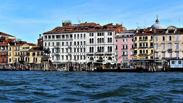Venice, Architecture, Buildings, Water, Facade, Palace