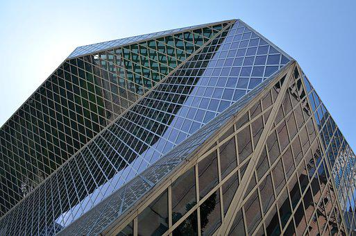 Seattle, Library, Windows, Architecture, Geometry
