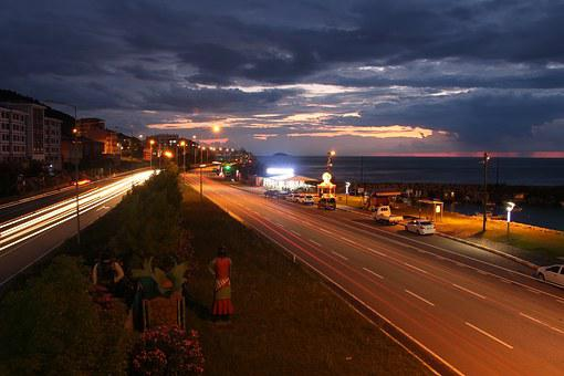 Giresun, Turkey, Beach, Blue, Sky, Coastline, Peace