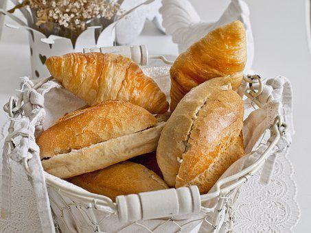 Roll, Croissant, Breakfast, Basket, Good Morning, Enjoy