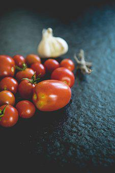 Tomatoes, Vegetables, Datailaufnahme, Food, Garden, Red