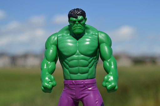 Incredible Hulk, Superhero, Green, Man, Male, Angry
