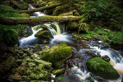 Bach, Long Exposure, Ilse Falls, Nature, Forest, Water