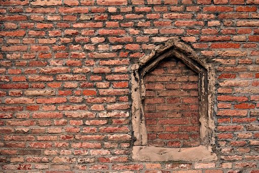 Wall, Window, Brick Wall, Bricks, Red, Bricked Up