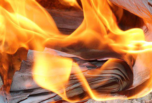 Flames, Burn, Paper, Fire, Hot, The Flame, Light