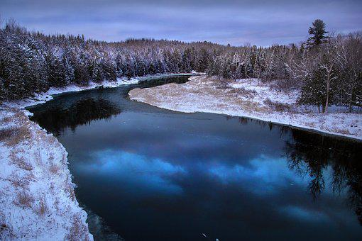 River, Reflection, Canada, New Brunswick, Meduxnekeag