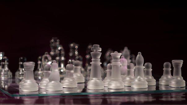 Chess, Chess Game, Glass, Chess Pieces, Strategy, Play