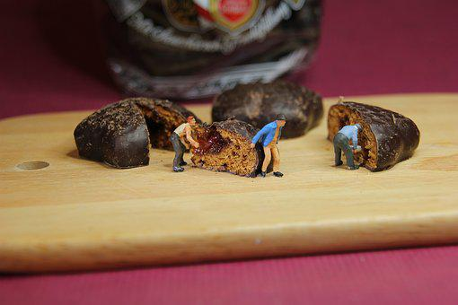 Advent, Chocolate Pastries, Miniature Figures
