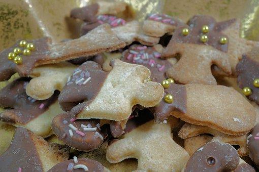 Cookie, Angel, Christmas, Pastries, Bake