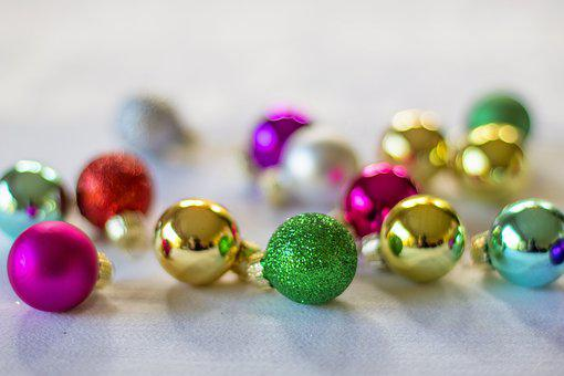Christmas, Ornaments, Backdrop, Christmas Ornaments