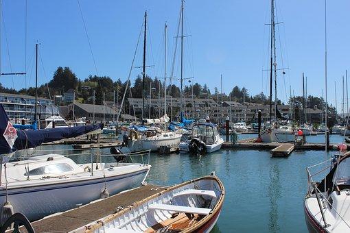 Newport Oregon, Marina, Oregon, Ocean, Coast, Harbor