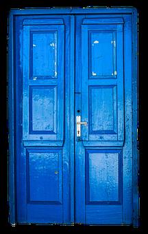 Door, Old, Blue, Blue Door, Old Door, House Entrance