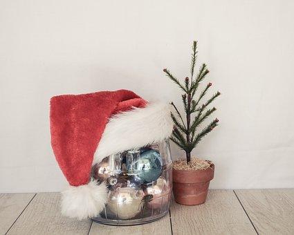 Santa Hat, Christmas, Holidays, Festive, Red, Ornaments