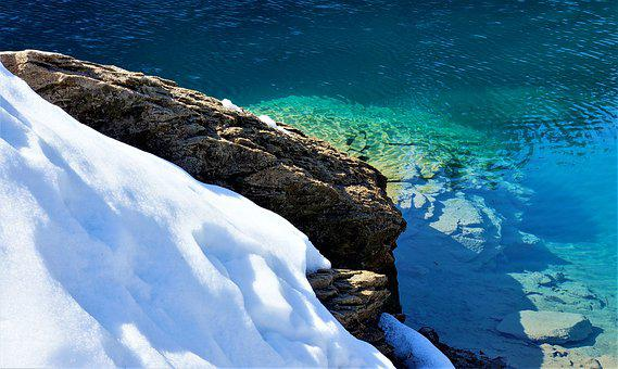 Water And Snow, Clear Water, Cauma Lake, Flims