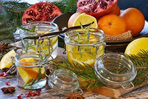 Christmas, Advent, Orange, Pomegranate, Fruit, Colorful