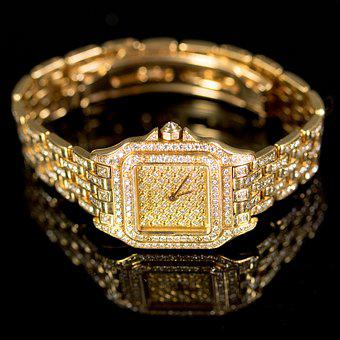 Gold, Watch, Time, Jewelry, Luxury, Golden, Hour, Metal