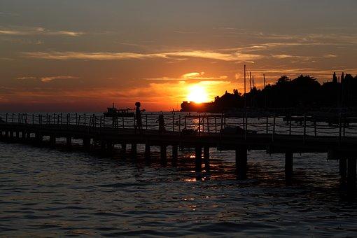 Sunset, Mood, Afterglow, Lake