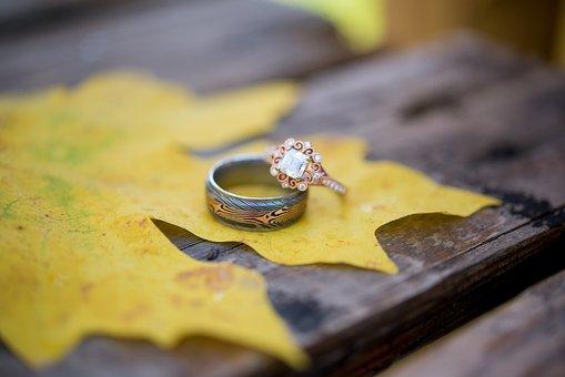 Wedding, Rings, Wedding Rings, Marriage, Leaf