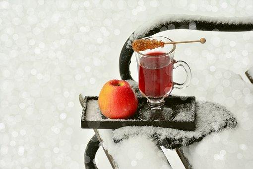 Tee, Winter, Snow, Drink, Glass, Fruit Tea