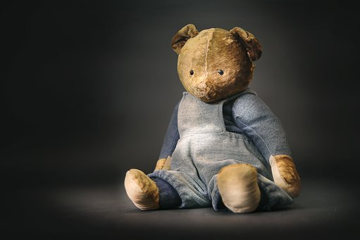 Toy, Bear, Old, Plush, The Lone, Gift, Brown, Childhood
