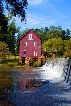 Starr's Mill, Georgia, Usa, Nature, Building, Landmark
