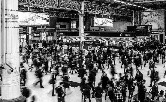 Victoria Station, Busy, People, Victoria, Station