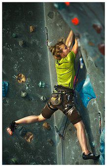 Sport, Climbing, Wall, Competition, Woman, Room