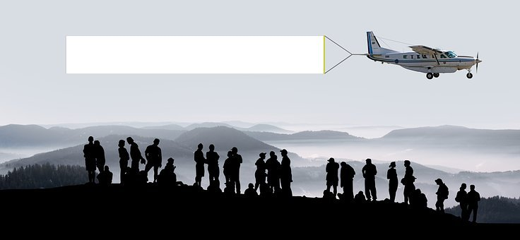 Group, Human, Collection, Meeting, Aircraft, Banner