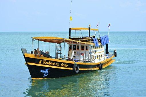 Fishing Boat, Thailand, Boot, Fischer, Ocean, Asia