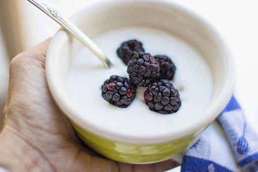 Yogurt, Breakfast, Berries, Food, Fruit, Bowl, Organic