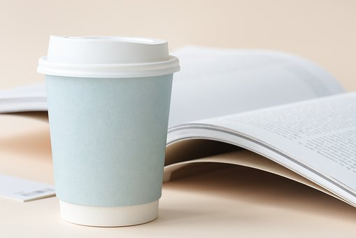 Aerial, Beverage, Blank, Book, Clean, Closeup, Coffee