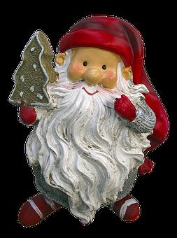Imp, Christmas Elves, Santa Claus, Ceramic, Figure