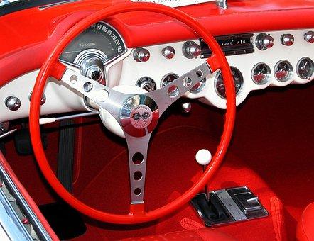 Car Interior, Classic Car, Retro, Chevrolet, Corvette
