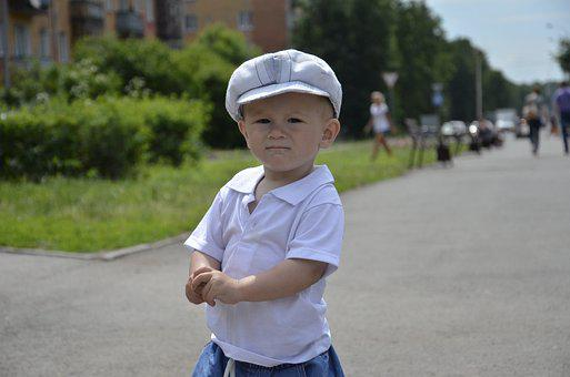 Boy, Sunny Day, Stroll, Cute, Kids, In The Park