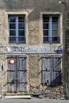 Facade, Old, House, Window, Door, Former, Wood, Pane