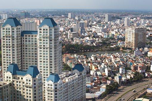 The City, Hochiminh, Wave, Saigon, Vietnam, The Horizon