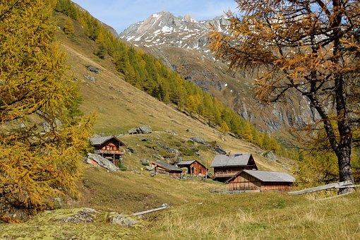 Alpine, Alm, Alpine Hut, Hut, Almdorf, Log Cabin