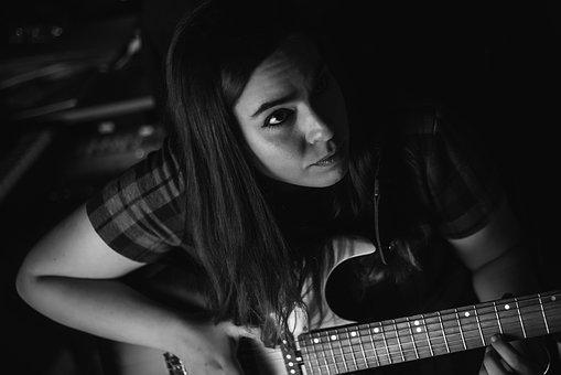 Woman, Guitar, Music, Female, Musician, Instrument