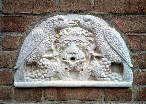 Lion, Eagles, Statue, Artwork, Facade, Antique, Culture