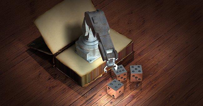 Book, Robot, Cube, Simulation, Robot Arm, Animation