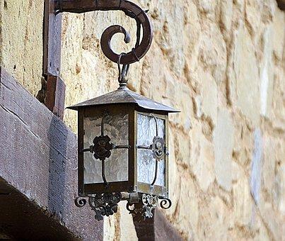 Street Lamp, Street, Facade, Old, Iron, Lighting