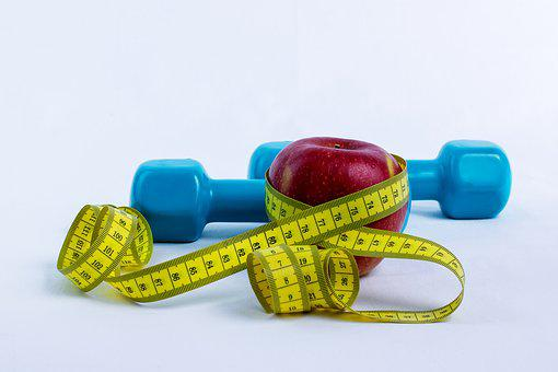 Dumbbell, Apple, Centimeter, Measure, Tape Measure