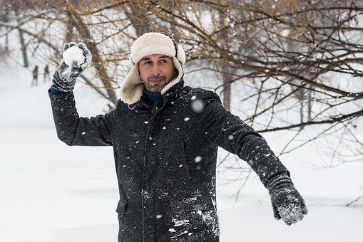 Winter, Snow, The Snow Falls, Snowballs, Winter Games