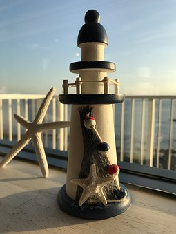 Lighthouse, Sea, Toys, Holiday, Coast, Beach, Building