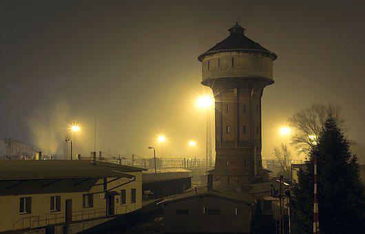 Water Tower, Waterworks, Railway Station, Old Buildings